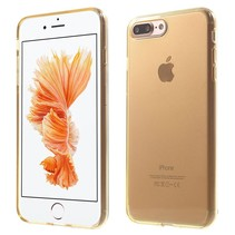 Goud / Transparant TPU Hoesje iPhone 7 Plus