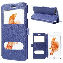Blauw Venster Bookcase Hoesje iPhone 7 Plus