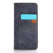 Blauw Broekzak Bookcase Hoesje iPhone 7 Plus