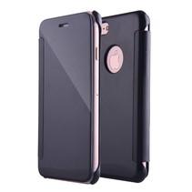Zwart Mirror Bookcase Hoesje iPhone 7 Plus