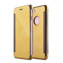 Goudkleurig Mirror Bookcase Hoesje iPhone 7 Plus
