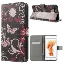 Roze Vlinders Bookcase Hoesje iPhone 7 Plus