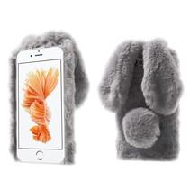 Grijs Pluche Konijn TPU Hoesje iPhone 7 Plus