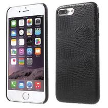 Zwart Krokodillen Hardcase Hoesje iPhone 7 Plus