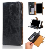 Zwart 2-in-1 Bookcase Hoesje iPhone 7 Plus