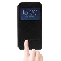 Zwart Venster Bookcase Hoesje iPhone 7 Plus