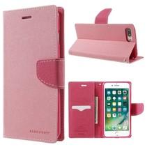 Goospery Roze Bookcase Hoesje iPhone 7 Plus