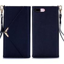 Donkerblauw Envelop Design Wallet Hoesje iPhone 7 Plus