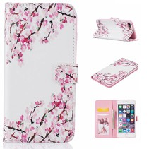 Roze Bloesem Bookcase Hoesje iPhone 7 Plus