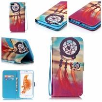 Dreamcatcher & Sunset Bookcase Hoesje iPhone 7 Plus