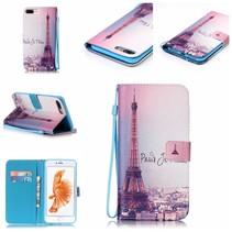 Eiffeltoren Bookcase Hoesje iPhone 7 Plus