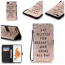 Eat Glitter Bookcase Hoesje iPhone 7 Plus