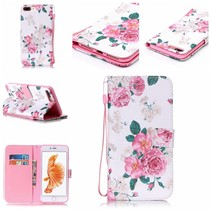 Bloemetjes Bookcase Hoesje iPhone 7 Plus