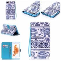 Olifantjes Bookcase Hoesje iPhone 7 Plus