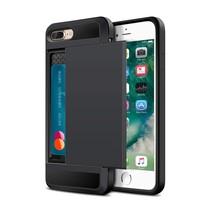 Zwart Pasjeshouder Hybrid Hoesje iPhone 7 Plus