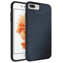 Blauw Pasjeshouder Hybrid Hoesje iPhone 7 Plus