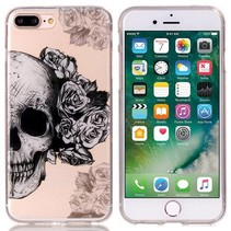 Skull & Flowers TPU Hoesje iPhone 7 Plus