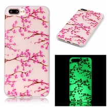 Roze Blosem Glow in the Dark TPU Hoesje iPhone 7 Plus