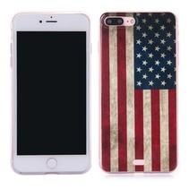 Amerikaanse Vlag TPU Hoesje iPhone 7 Plus