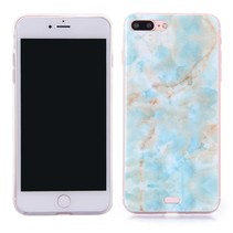 Blauw Marmer TPU Hoesje iPhone 7 Plus