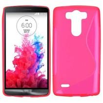 Roze S-design TPU hoesje LG G3 S