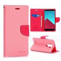 Diary roze Bookcase hoesje LG G4