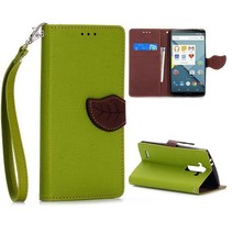 Groene leaf Bookcase hoesje LG G4