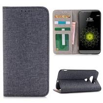 Grijs Linnen Bookcase Hoesje LG G5 / G5 SE