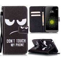 Don't Touch My Phone Bookcase Hoesje LG G5 / G5 SE