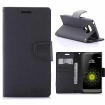 Diary Series Zwart Bookcase Hoesje LG G5 / G5 SE