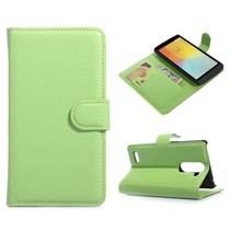 Groene lychee Bookcase hoes LG L Bello / L80 Plus