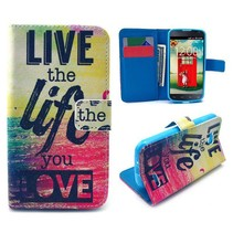 Live the life you love Bookcase hoes LG L90