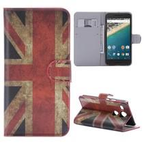 Britse Vlag Bookcase Hoesje LG Nexus 5X