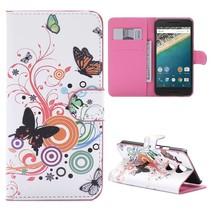 Vlinders Bookcase Hoesje LG Nexus 5X