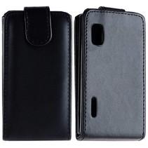 Zwart Flip Case hoesje LG Optimus L5