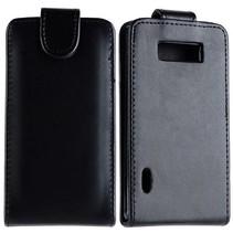 Zwart Flip Case hoesje LG Optimus L7