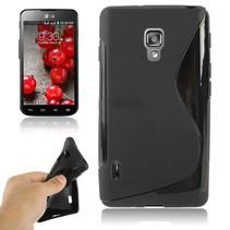 Zwart S-design TPU hoesje LG Optimus L7 II