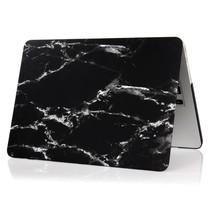 Marmer Hardcover Case Macbook 12-inch (Zwart / Wit)