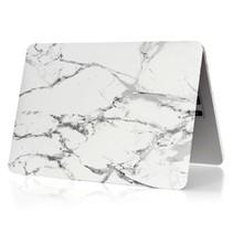 Marmer Hardcover Case Macbook 12-inch (Grijs / Wit)