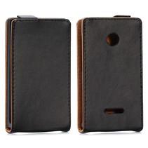 Zwart Flip Case hoesje Microsoft Lumia 435