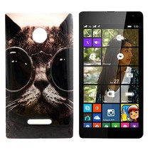 Kat met zonnebril TPU hoesje Microsoft Lumia 435