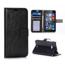 Zwarte Bookcase hoes Microsoft Lumia 535