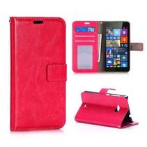 Roze Bookcase hoes Microsoft Lumia 535