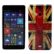 Britse vlag TPU hoesje Microsoft Lumia 535