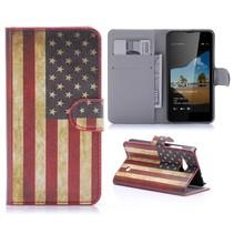 Amerikaanse Vlag Bookcase Hoesje Microsoft Lumia 550