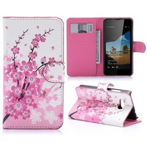 Roze Bloesem Bookcase Hoesje Microsoft Lumia 550
