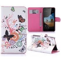 Vlinders Bookcase Hoesje Microsoft Lumia 550