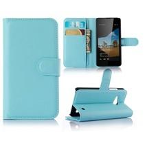 Blauw Litchi Bookcase Hoesje Microsoft Lumia 550