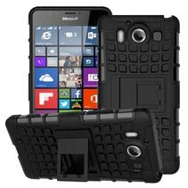 Zwart Hybrid Hoesje Microsoft Lumia 950