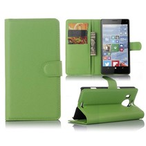 Groen Litchi Bookcase Hoesje Microsoft Lumia 950 XL